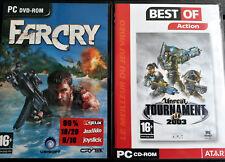 Lot de jeux d'action PC - Far Cry + Unreal Tournament 2003