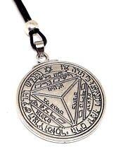 Seventh Pentacle of Saturn Key Of Solomon Talisman Pendant Beaded Cord Necklace
