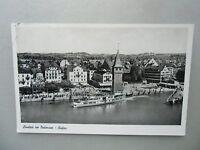 Ansichtskarte Lindau am Bodensee Hafen 1955