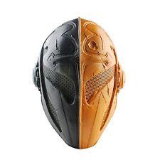 Black Yellow Fabric Plastic Wire Mesh CS Airsoft Full Protection Templar Mask