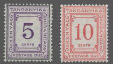 Kenya-Uganda-Tanganyika Sc. #J-7 - J-8 MH  'POSTAGE DUE'  1935