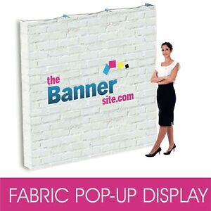 FABRIC POP UP 3x3 SEG EXHIBITION WALL BACKDROP POP UP DISPLAY STAND SYSTEM