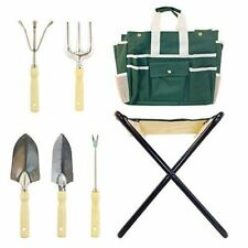 All in 1, 7 Piece Picnic Stool, Gardening Tools and Portable Carry Bag Kit Set
