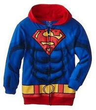 NWT Boys DC Comics SUPERMAN PUFFED Chest Muscle 6-pack hoody JACKET sz- LARGE Lg