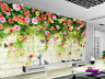 Papel Pintado Mural De Vellón Vid De Flores Coloridas 23 Paisaje Fondo Pantalla