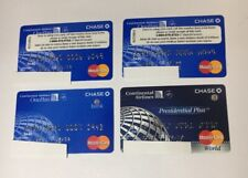 4 Expired Credit Cards For Collectors - Cont. Airlines Chase Mastercard (7102)