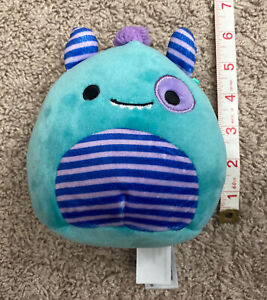 """Squishmallow Morty The Monster 6"""" Inch Kellytoy Plush"""