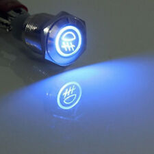 16mm 12V LED Licht tastender Knopf Metallschalter Auto Blau Nebelleuchte HY