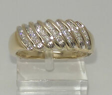Lovely 9ct Yellow Gold 25pt Diamond Eternity Ring. Goldmine Jewellers.