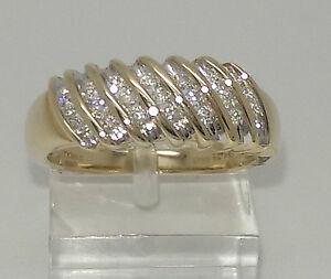 Lovely 9ct Yellow Gold 25pt Diamond Eternity Ring. Goldmine Jewellers.