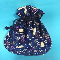 Japanese Chirimen Kimono Crepe Fabric Mini Pouch Cute Kawaii Kyoto Japan B