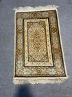 2X4 Authentic Genuine Signed Hereke High quality Pure Silk Collectors Item Rug