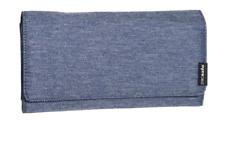 NWT PACSAFE RFID LX200 CLUTCH WALLET -MODEL 10750601- DENIM LOOK (MSRP $44.95)