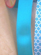 "1m 2m Blue Wired Edge Ribbon 3.8cm 1.5"" ribbon Satin Teal Quatrefoil Blue"