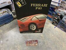*Rare* Huge 1/8 Scale Pocher Ferrari F40 Amber And Red Transparent Parts.