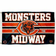 Chicago Bears 3x5 Banner Flag 3x5 ft Indoor Outdoor Monsters of the Midway Logo