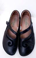 Naot Matai Maryjane Leather Black Suede Swirl Womens Comfort Shoes EUR 39