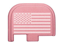 Rear Slide Cover Plate Pink for Glock 42 G42 .380 US Flag Inverse