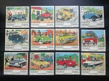 Série complète de 12 autocollants Citroen Tintin Cote d'or  TBE