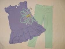 NWT $39.50 DKNY 2pc GIRL 5T jacaranda or light purple