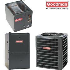 3 Ton Goodman 14 SEER 80% AFUE Dual Fuel Heat Pump 80K BTU System GSZ140361