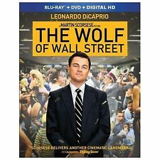 The Wolf of Wall Street (Blu-ray/DVD, 2014, 2-Disc Set) NO DIGITAL COPY; VG