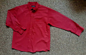 """Arnold Palmer Burgundy Long Sleeved Classic Shirt Size L Pit to Pit 24"""" Big Tall"""