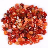 200g Bulk Tumbled Stones Red Agate Quartz Crystal Healing Reiki Home Decor