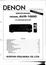 Service Manual-Anleitung für Denon AVR-1000