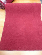 82 X 22inch (208 x 55cm)  RICH RED COLOUR TWIST PILE RUG  / RUNNER  #1821
