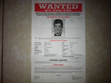 "SEMION ""CRAZY SAM"" RAICHEL RUSSIAN MAFIA DON FBI WANTED POSTER *MAKE OFFER*"