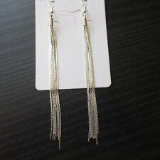 """Beautiful Vintage Long Silver Plated Tassel Earrings 5""""  Wedding Bride 1st Class"""