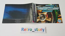 Nintendo Game Boy Advance GBA Need For Speed Underground 2 Notice / Instruction