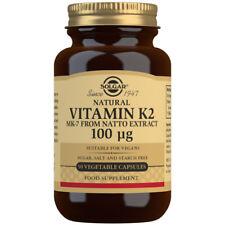Solgar Natural Vitamin K2 100µg - 50 Vegetable Capsules - BRAND NEW, SEALED