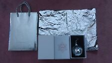 2017 Mac Cosmetics Silver Sequin Xmas Ornament Ball W/ Hook Gift Bag Silver Foil