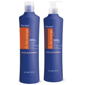 Fanola No Orange Twin Double Pack 350ml Shampoo + Mask Toner Hair Toning Soft
