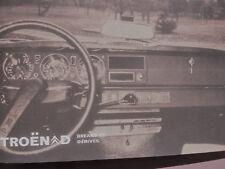 Notice d'emploi - Citroën DS 20 - 23 Break