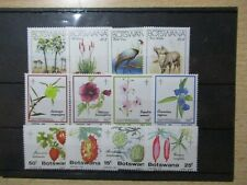 S192/4583 BLUMEN FLOWERS Botswana Lot Sätze xx 2