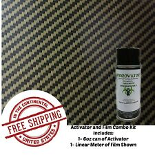 Hydrographic Water Transfer Hydro Dip 6oz Activator Gold Carbon Fiber A Film Kit