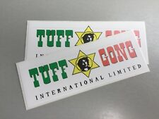 2 Unused 22cm Vinyl Stickers reggae ska tuff gong Marley Jamaica ub40 laptop car