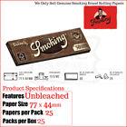 fumar marrón sin blanquear 1¼ (1.25) papeles de liar - 3/6/12 & Completo Box 24