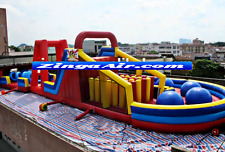 65x25x25 Commercial Inflatable Big Red Ball Wipeout Obstacle Course We Finance