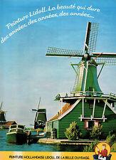 Publicité 1979  PEINTURE HOLLANDAISE LIDOLL