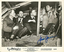 Hand Signed 8x10 photo JAMES GARNER and RICHARD ATTENBOROUGH in THE GREAT ESCAPE
