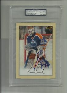 Grant Fuhr 5x7 2005 Upper Deck Bee Hive signed card PSA/DNA 10 Oilers Auto