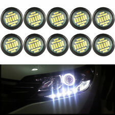 10pcs White LED Eagle Eye Light 12V 15W Daytime Running DRL Backup Car Rock Lamp