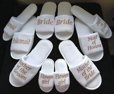 ROSE GOLD Hen Bride Spa Slippers wedding Bridesmaid personalised bridal gift