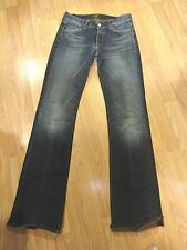 SEVEN FOR ALL MANKIND STRETCH DK DENIM BOOTCUT JEANS SIZE 28