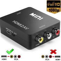 Mini Composite HDMI to 3RCA AV CVBS 1080P Video Audio Converter Adapter Xbox/PS4