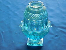Westmoreland Blue Carnival Glass Fairy Lamp aka fairy light